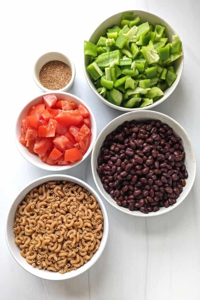 easy taco pasta recipe ingredients