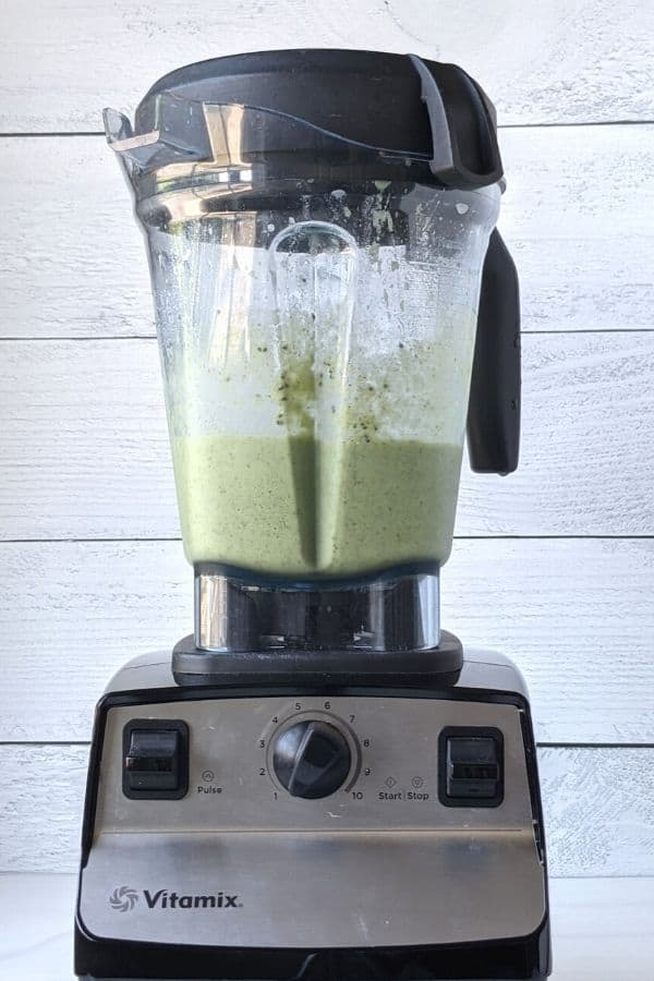 blended broccoli smoothie in vitamix