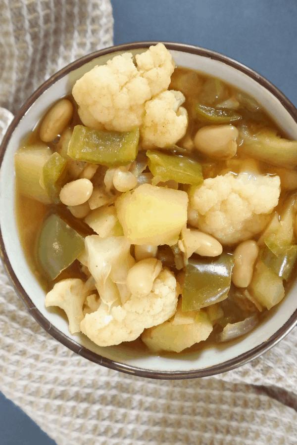 healthy vegan cauliflower potato stew