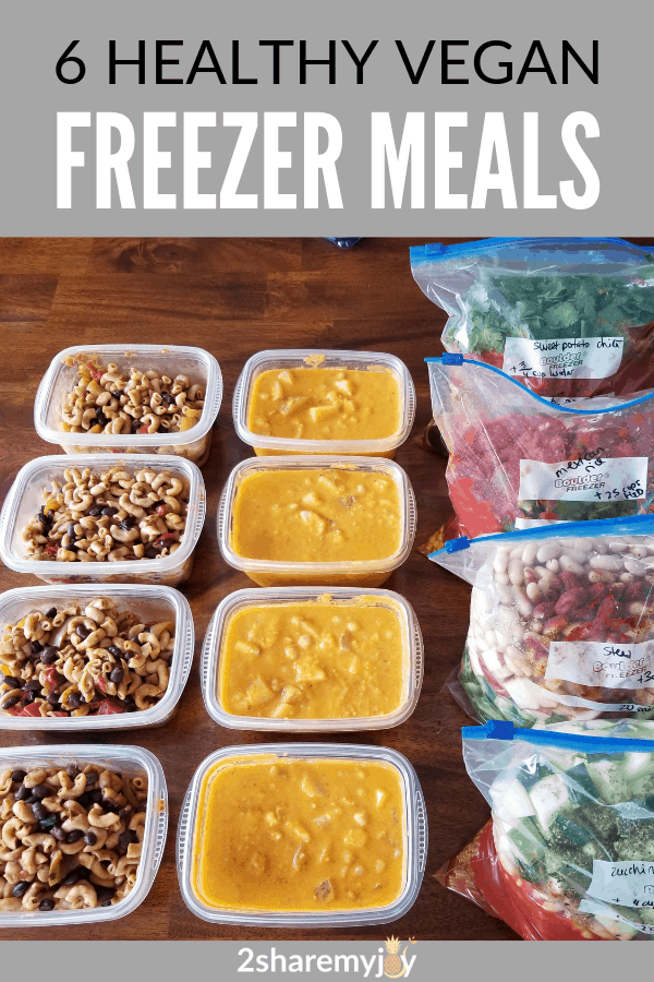 Healthy vegan freezer meals for easy vegan meal prep and busy worknights