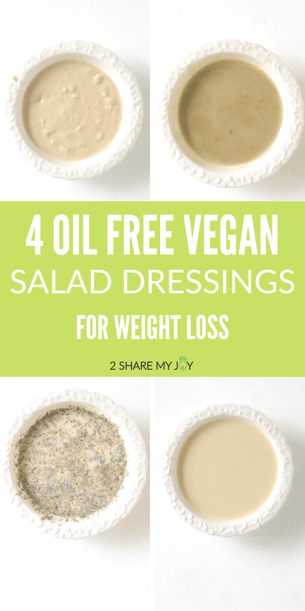 Healthy salad dressing for weight loss. No oil used. Gluten free, vegan, plant based #weightloss #salad #vegan