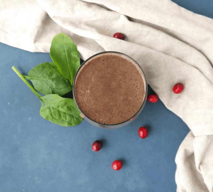 Cranberry Smoothie Recipe (vegan)