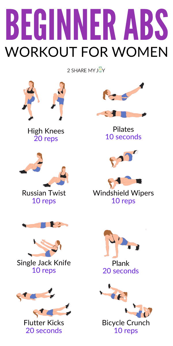 Beginner ab workout for women AT HOME. No need to go to the gym with these easy at home exercises.