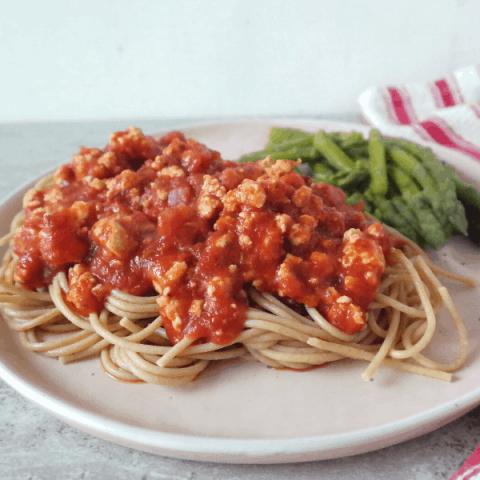 Easy Vegan Tofu Bolognese {30 Minutes}