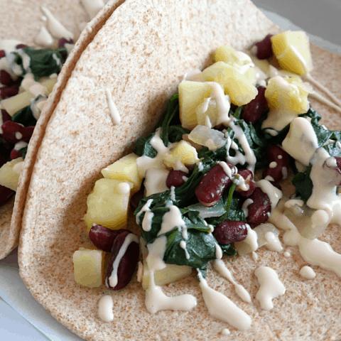 Spinach Potato Tacos