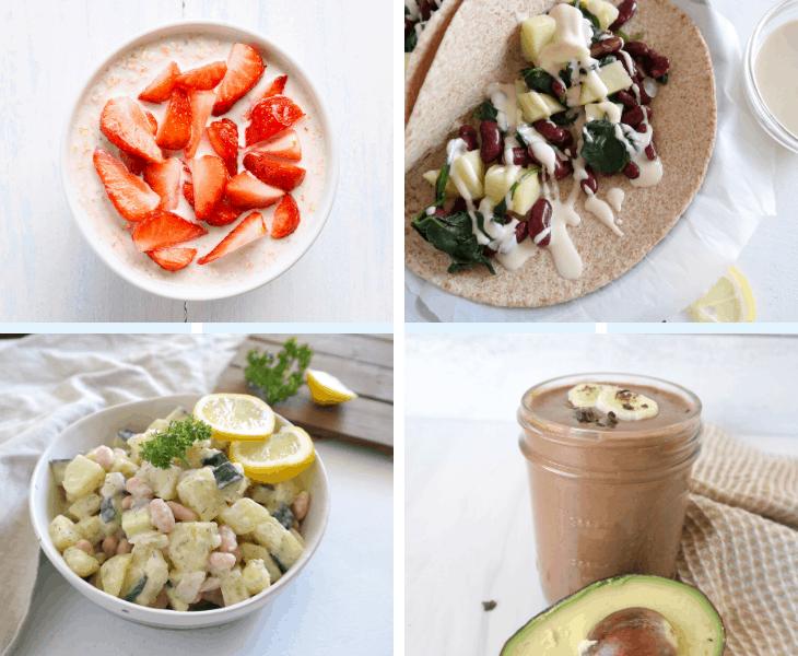 Healthy Spring Meal Plan (Vegan, WFPB, 7-Days)