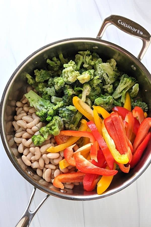 asian vegetables with plant based protein