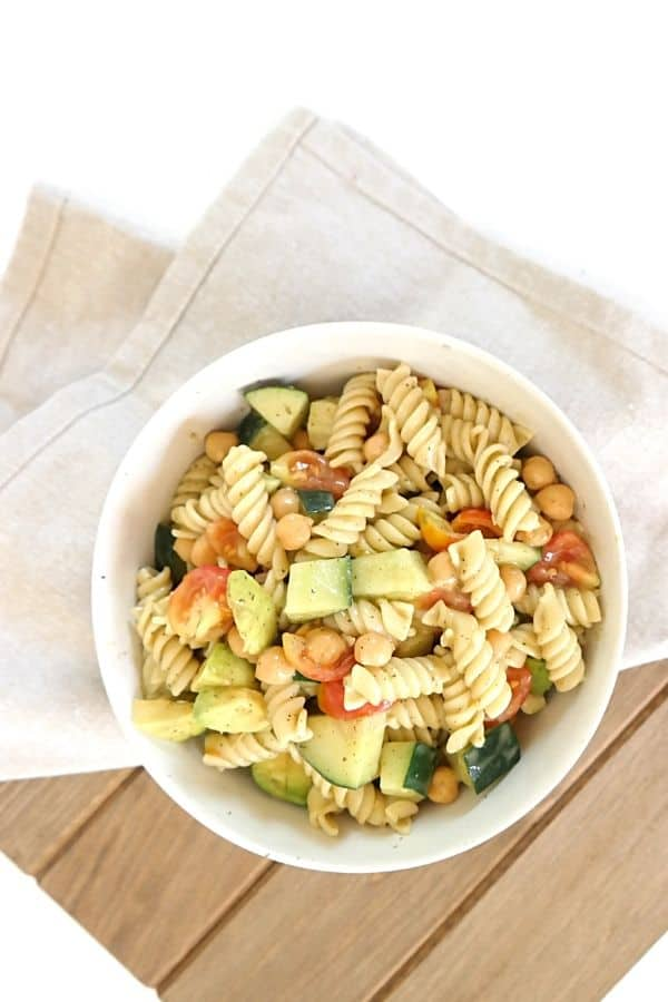 healthy caprese salad bowl